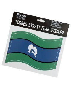 Sticker Vinyl Torres Strait Islander Flag Wavy