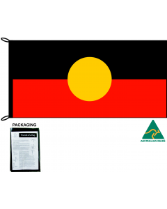 Knitted Polyester Aboriginal Flag 1800x900mm