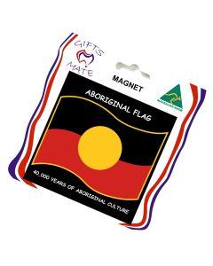 Magnet Canvas Aboriginal Flag Wavy 40,000 Years