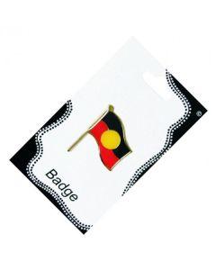 Aboriginal Flag Metal Badge 24x32mm