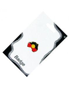 Australia Map Aboriginal Flag Badge 27x20mm