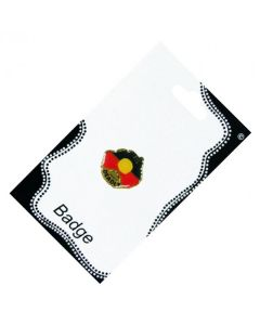 Australia Shape Deadly Aboriginal Flag Metal Badge