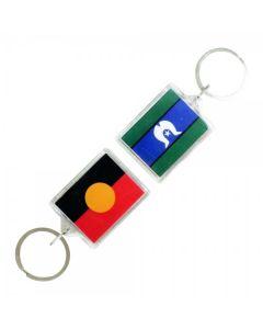 Aboriginal & Torres Strait Islander Flag Acrylic Keyring
