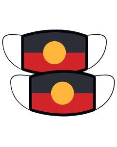 Aboriginal Flag Face Mask