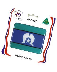 Magnet Resin Rectangle Shape Torres Strait Islander Flag