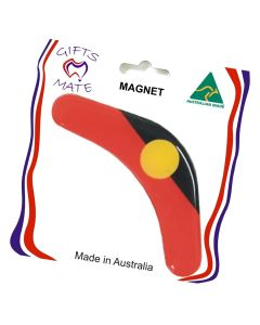 Boomerang Shape Aboriginal Flag Flexible Magnet