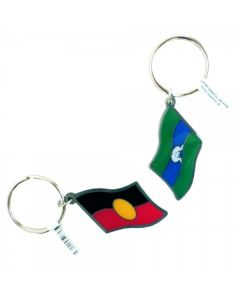 Aboriginal & Torres Strait Islander Flag Metal Keyring 40x30mm
