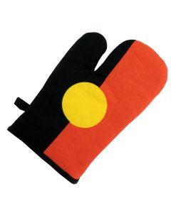 Glove Mitt Cotton Aboriginal Flag 16x25cm