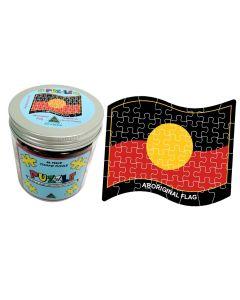 Aboriginal Flag Jigsaw Puzzle 48 Piece