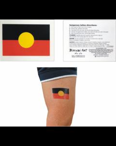 Aboriginal Flag Temporary Tattoos 45x30mm