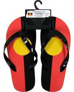 Rubber Aboriginal Flag Thongs Medium Sizes 6-8